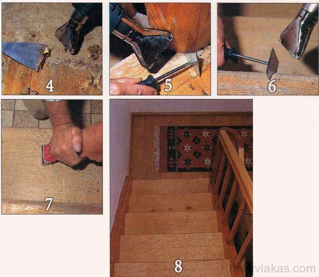 Ragasztott lépcsőburkolat felújítása 2