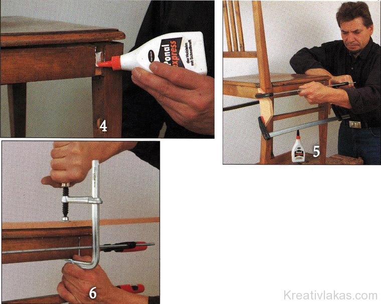 Rozoga szék újraenyvezése 2