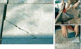 Törött betonlap javítása 2