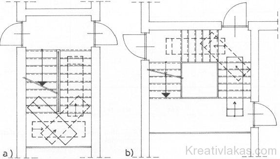 Lépcsőházak méreténél a (200 x60-as) űrszelvény