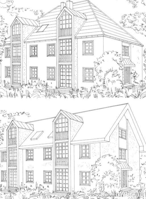 A kétszer három lakásos lakóház
