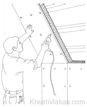 Belső burkolati kéreggel ellátott hőszigetelő panel beépítése módja