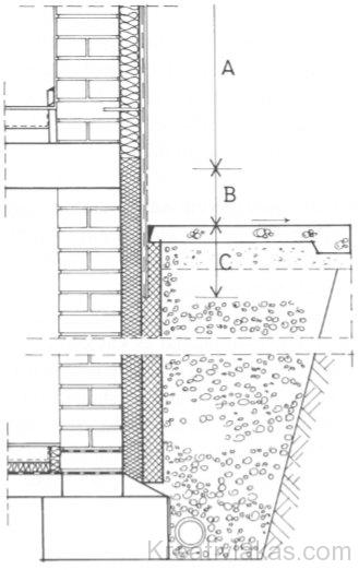 Pincefal külső hőszigeteléssel és rétegszivárgóval