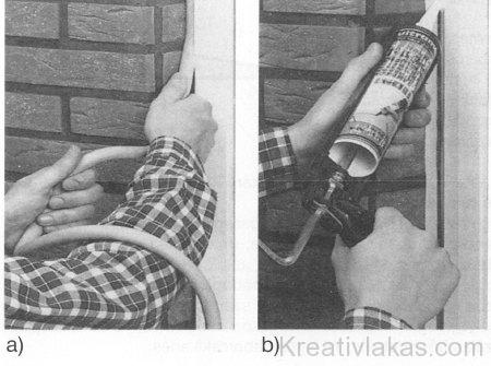 Ablak és falkapcsolat rugalmas kitöltése