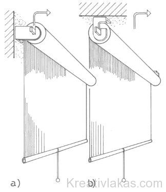 Falhoz vagy mennyezethez kapcsolható gyűjtőhengeres roló