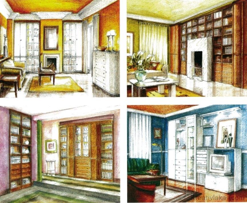 Példa különböző stílusú, éjszakai zónában lévő hálószobák színhasználatára