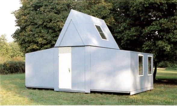 """""""Instant ház"""": divatos, házgyári lakás: dobozokból gyorsan összerakható."""