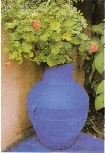 A virágtartókhoz általában a természetes színek illenek