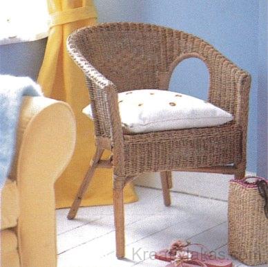 A rattan bútorok, még egy egyszerű szék is, vonzó, rusztikus hatást keltenek
