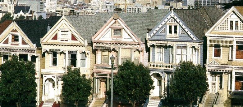 Jól megválasztott színek XIX. századi San Franciscó-i házakon