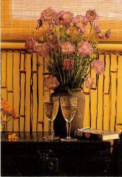 Festett bambuszminta sárga diszperziós festéken