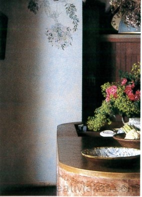 Sablonnal festett sarok