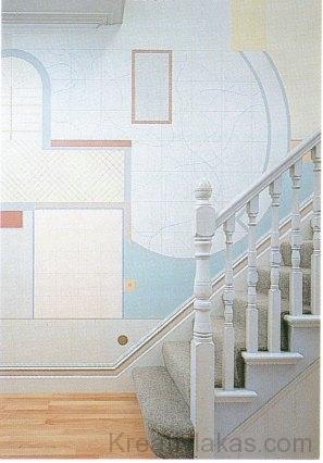 Falikép Le Corbusier tervrajza alapján