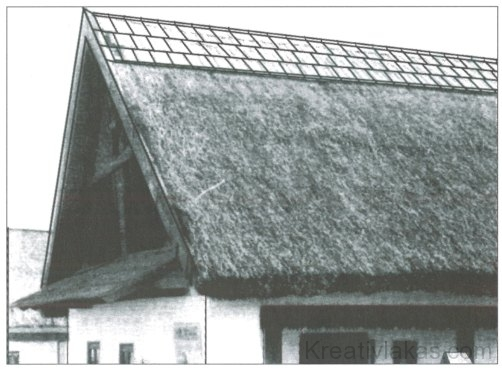 51. kép. A Tiszántúlon gyakori cserepezés.