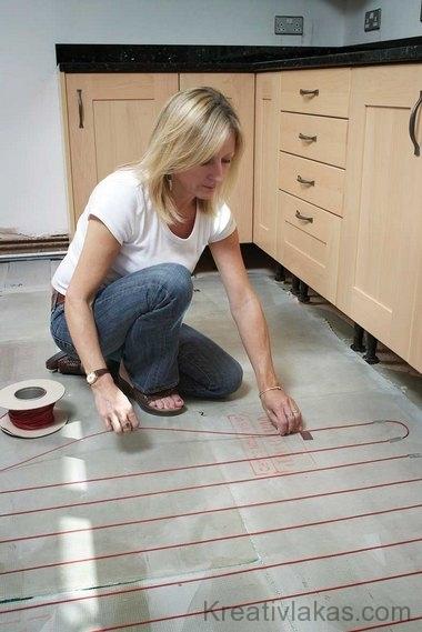 11. ábra. Elektromos padlófűtés a konyhában