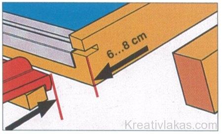 A tetőcserép és az ablaktok között szükséges távolság