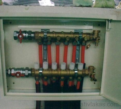53. ábra. Hat fűtőkörhöz alkalmas elosztóberendezés