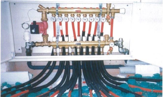 54. ábra. Kilenc fűtőkörhöz alkalmas elosztóberendezés