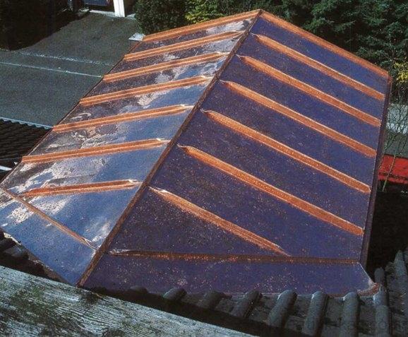 Rézfedésű tető
