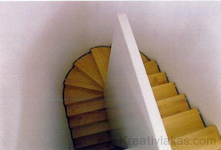 Félfordulatos húzott fokú lépcső 9.