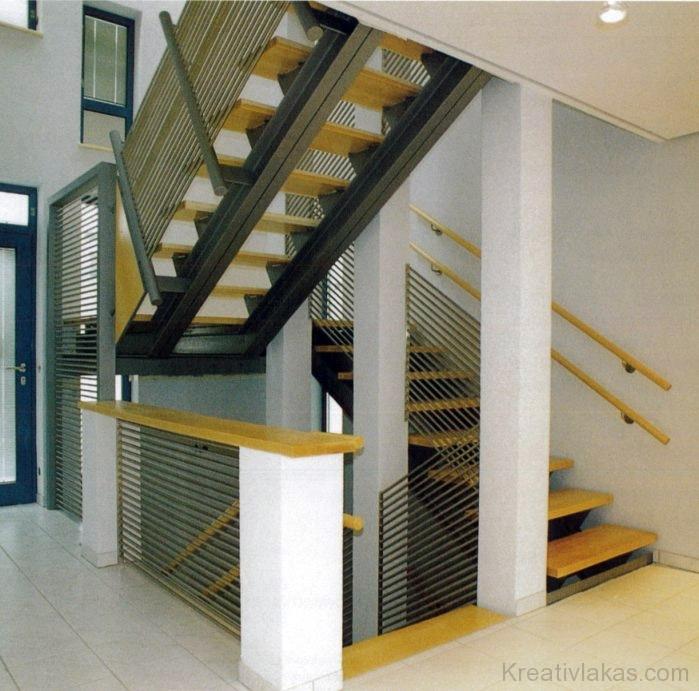 Egyenes kétkarú lépcső pihenővel 7.