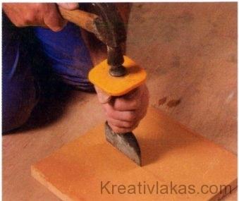 Gyémánthegyű karcoló eszköz
