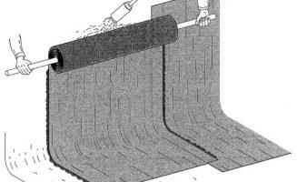 Bitumenes vastaglemez függőleges rögzítése