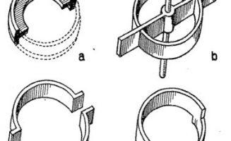 Különböző acélgyűrű betétek