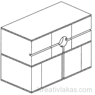 Falazott szerkezetben kialakított vezeték és elágazó doboz hornyolása