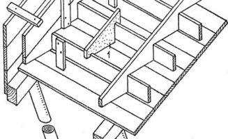 Felső szegélybordás vasbeton lépcső