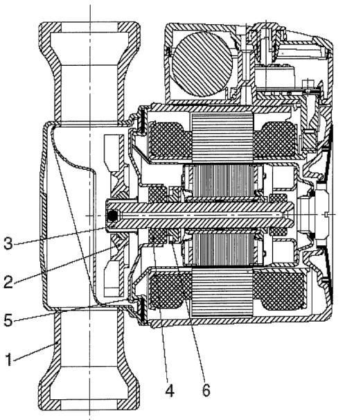4.13. ábra. Szivattyú felépítése, szerkezeti részei.