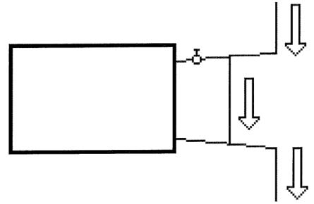 Átkötő szakasz beépítése a radiátorszelep elé
