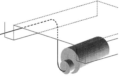 6.1. ábra. Kazetta alatti csővezeték szerelése.