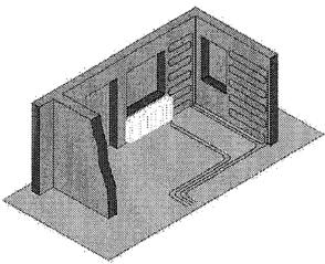 7.43. ábra. Falfűtés és radiátoros fűtés párosítása.