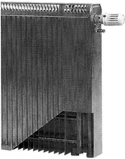 7.89. ábra. Korszerű réz-alumínium konvekciós radiátor.