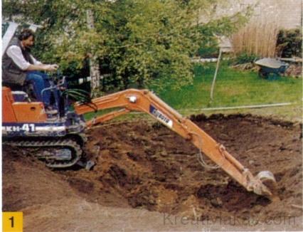 Kerti tó ásás